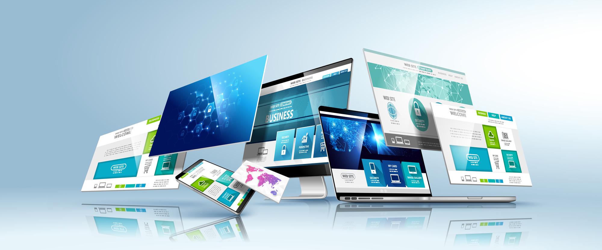 Screen shots of mobile and desktop design