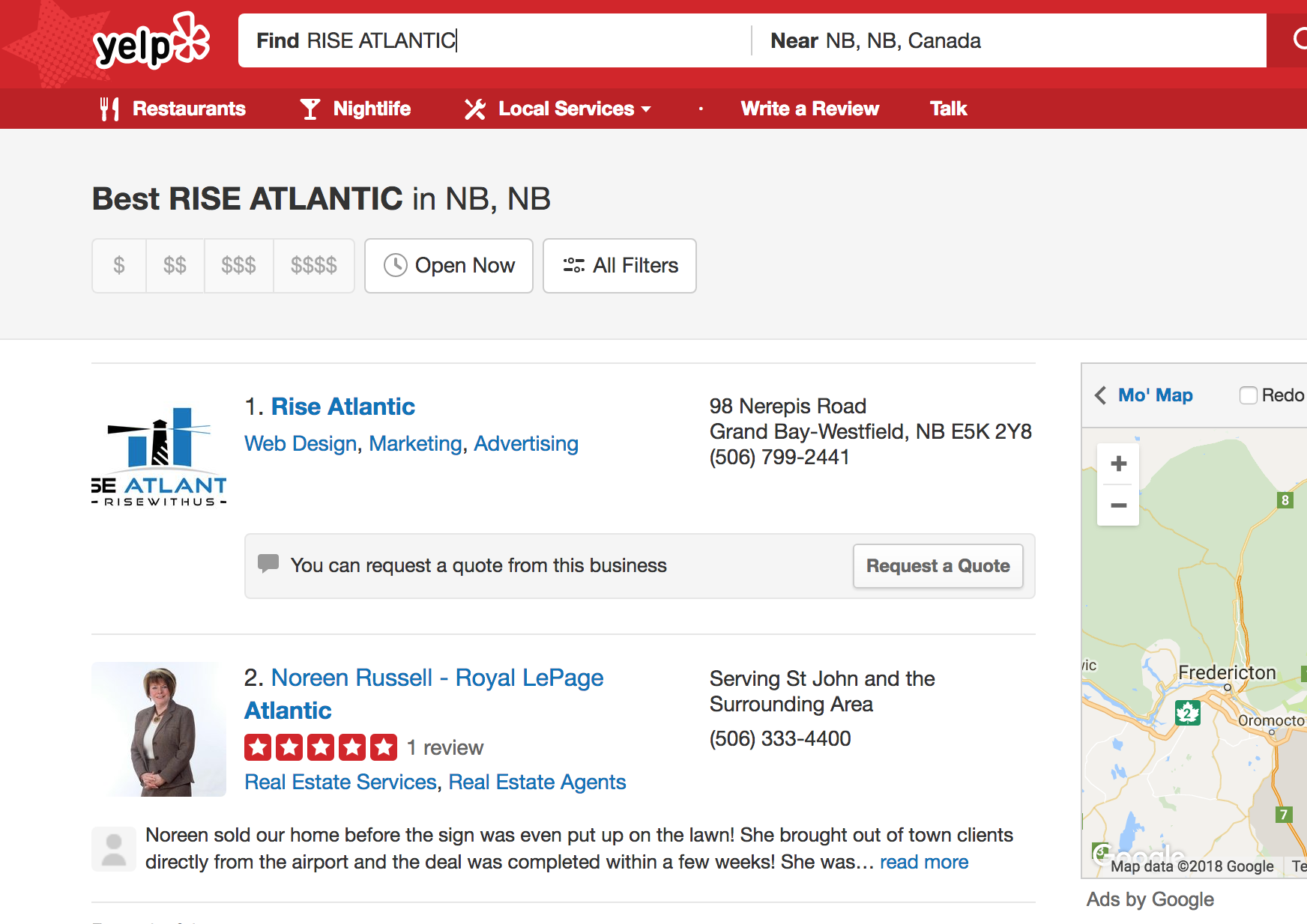 Yelp for SEarch Engine Optimization
